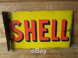 À Double Signe Face De Shell. Signe Vintage. Bp. Esso