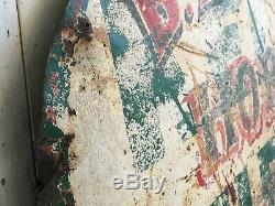 Aafa Antique Cheval De Métal Ferrage Publicité Double Face Signe Du Commerce Folk Art