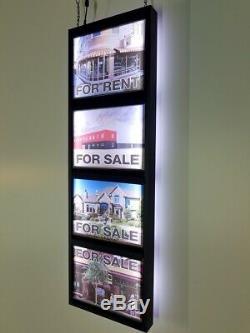 Agence Immobilière Signer. Led Light Box De Signe D'affaires De La Fenêtre. Double Face