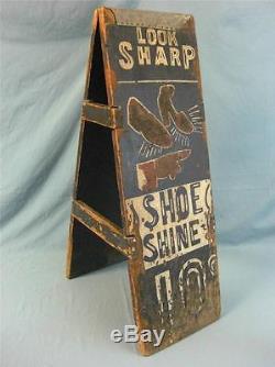 Ancien Signe De Cirage De Chaussure Des Années 1920 Antique