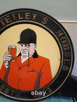 Ancienne Maison Tetley Panneau À Double Face