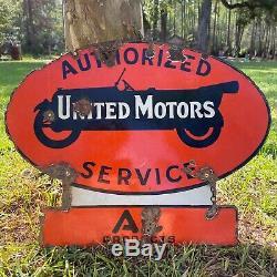 Années 1920. Service Rare United Motors Double Face Porcelaine Connexion