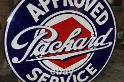 Années 1930 Packard Service Approuvé Porcelaine À Double Side Signe Par Walker & Co