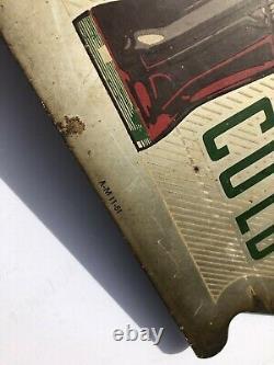 Antique 1951 Coca Cola Double Face En Métal Bride Signe Daté