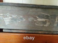 Antique 19th Century Millinery Panneau Commercial En Bois Blacksmith Panneau Double Face