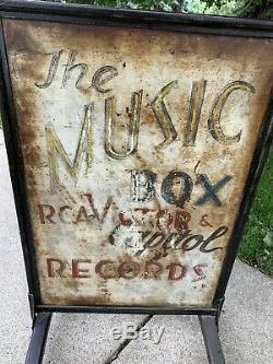 Antique Double Face Trottoir Publicité Connexion Rca Victor Capital Records Vinyl