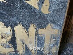 Antique Dr. Vincent Médecin Docteur Peint À La Main Hanging Signe Double Face