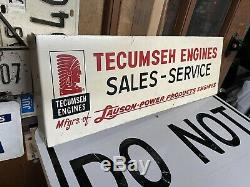 Antique Original Double Face Tecumseh Lauson Engine Bride Dealer Connexion Indien