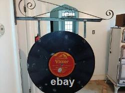 Antique Rca, Victor Records Porcelaine Double Face Sign, Pre-war