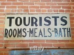 Bain De Adirondack Signé Antique Double Face Signes Du Commerce Touriste Chambres Lit