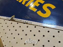 Batteries Goodyear Vintage En Porcelaine Signe 1946 Double Face 48 X 26.5