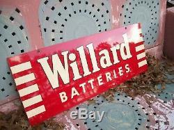 Batteries Willard Signe Tres Belle, Porcelaine Double Face, En Date Du 7-50