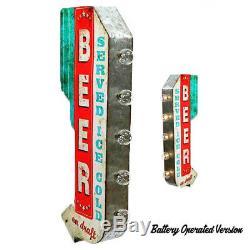 Bière Servi Glace Froid Plugbattery Chapiteau Rustique Double Face Arrow