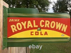 Boire Rc Royal Crown Cola Double Face De La Plaque De Porcelaine Soda Pop Man Cave