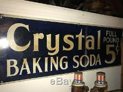 Bouteille De Bicarbonate De Soude De Cristal 5 Cents Double Face Magasin De Pays En Métal