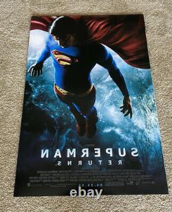Brandon Rooth Superman Retourne Le Cast Signé X3 Double Face 27x40 Affiche Coa