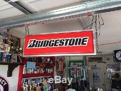 Bridgestone Enseigne Lumineuse Suspendue Double Face 3 'x 1