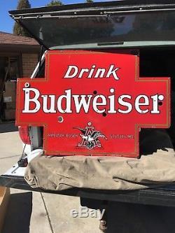 Budweiser Neon Beer Enseigne De Bière Double Face