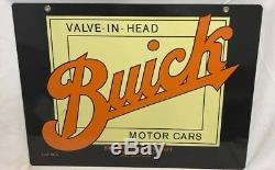 Buick Signe Porcelaine Métal Double Face Flint