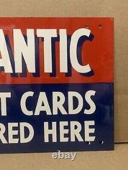 Carte De Crédit Pour L'atlantic Vintage Double Sided Nos Garage Wall Decor Oil