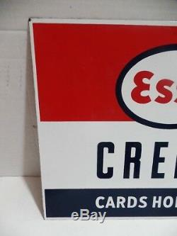 Cartes De Crédit Esso Vintage À Double Face Avec Signe Polaire En Porcelaine