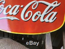 Coca Cola Double Face Porcelaine Signe