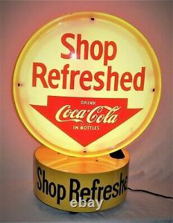 Coca Cola Original Rotation Éclairé Double De Côté Halo Publicité Sign-very Nice