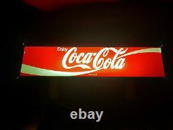 Coca-cola Double Côté Lumineux Fontaine Topper Signe Prix Cut 10% Free Ship