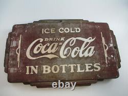 Coca-cola Thermomètre Double Face Boisson Coca-cola Dans Des Bouteilles Rares Authentique