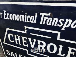 Concessionnaire Chevrolet À Double Face En Porcelaine Connexion