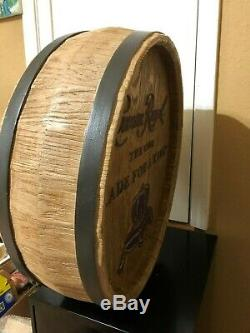 Crown Royal Double Face Whisky Barrel Top Sign Cave Man Décor Whiskey Head