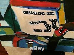 Curtis Barnes Artiste African American Art Original Double Sided Peinture