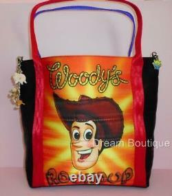 Disney Harvey's Signed Toy Story One Buzz & Woody Sac À Main Double Côté T.n.-o.