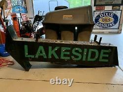 Double Côté Neon Arrow Sign Lakeside Cabin Resort Lake House Bar Garage Rare