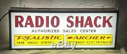 Double Face Illuminé Signe Radio Shack