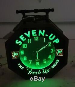 Double Sided 1930 Octogonal Horloge Neon De Hardinsburg Kentucky Farmers Bank