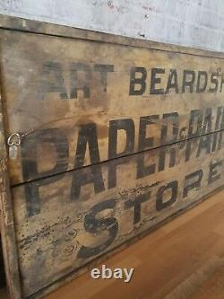 Double Sided Antique American Trade Sign Paint & Paper Store