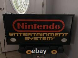 Double Sided Nintendo Nes M36b Fibre Optique Store Display Sign