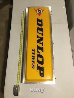 Dunlop Vintage Pneus Moto Double Face Hanging Showroom Garage Concessionnaire Connexion