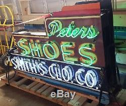 Enseigne Au Néon En Porcelaine À Double Face De Peter's Shoes (livraison Gratuite À Chicagoland)