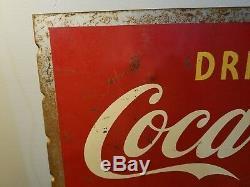 Enseigne Double Face À Collerette Coca-cola Des Années 1940