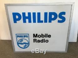 Enseigne Double Face Originale Pour Radio Mobile Philips (éclairée)