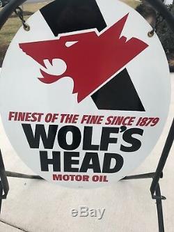 Enseigne Publicitaire Double Face Pour Station D'essence À Pétrole Double Nos Wolf's Head