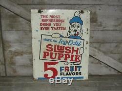Enseigne Slush Puppie Vintage Vintage En Métal Peint