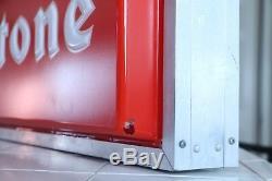 Enseigne Vintage Revendeur Eclair Firestone, Double Face