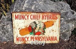 Flux Métal Muncy Chef Hybrids Pennsylvanie Corn Dealer Farm Seed Double Face