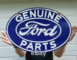 Ford Pièces D'origine Porcelaine Signe Double Face Chicago