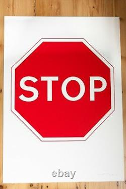 Gavin Turk Signé Double Face Imprimer Stop And Go (édition Limitée À 100)