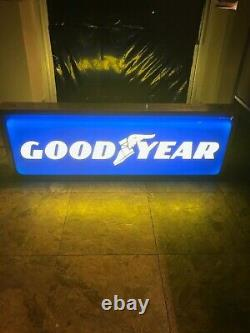 Goodyear Advertising Lighted Double-sided Dealer Sign 36x12x6 Goodyear Advertising Lighted Double-sided Dealer Sign 36x12x6 Goodyear Advertising Lighted Double-sided Dealer Sign 36x12x6 Goodye