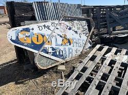 Goodyear Porcelaine Concessionnaire Signe 8ft Avec L'image D'origine À Double Face